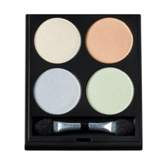 Motives® Fantasy Palette   Motives Cosmetics An eye shadow palette featuring four dreamy mineral eye shadows. Create a soft pop of color with four new mineral eye shadows inspired by the soft water colors. Create your own unique look with this palette featuring a mirror and brush — wherever the road may take you. http://www.motivescosmetics.com/lacey/product/motives-fantasy-palette?id=PRESH9&skuName=motives-fantasy-palette-includes-4-eye-shadows&idType=sku