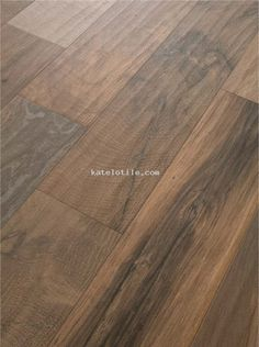 Woodker Brown Love this idea-wonder how pricey Hardwood Tile, Wood Tile Floors, Wood Look Tile, Floor Design, House Design, Ceramic Floor Tiles, Porcelain Ceramic, Brown Bathroom, Flooring Options