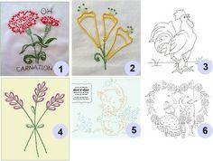 Free patterns: Hand embroidery | Needlework News | CraftGossip.com