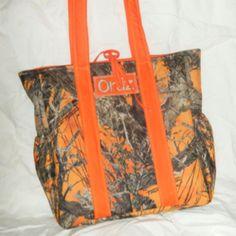 Camo Diaper Bag, Etsy.
