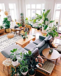 Other Scandinavian living room design ideas might include the balance between an inside and outdoor spaces. Let us show you some Scandinavian living room design ideas for you to get the gist of it and, who knows, find your new living room décor. Living Room Plants, Living Room Decor, Living Spaces, Living Rooms, Scandinavian Living, Scandinavian Interior, Home And Deco, Living Room Inspiration, Home And Living