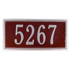 Montague Metal Products Fremont Address Plaque Finish: Gray/Silver, Mounting: Wall