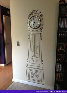 Easy, whimsical, and a whole lot cheaper than a Grandfather clock...