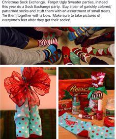 Christmas Sock exchange party! Everyone brings a pair of Xmas socks ...