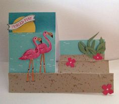 Side step with Stampin' Up! Flamingo Lingo Ronald MacDonald Charity Stamp set www.lauriel.stampinup.net