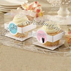 Wholesale Favor Holders - Buy Free Shipping!New!100pcs/lot!Square&Transparent Cupcake Boxes Wedding Favors Boxes/Party Sweet Boxes, $0.79 | DHgate