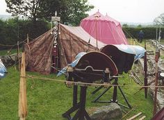 Keep your ballista dry! Roman field camps were set up just like the camps and forts they came from.