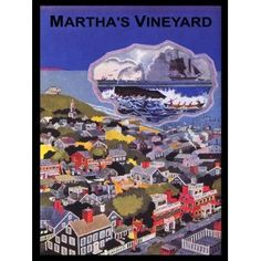 Vintage Martha's Vineyard poster, vacation/travel posters