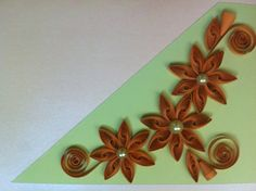 Green mint quilling card