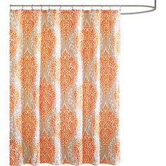 Update your master bath or guest suite with this stylish shower curtain, showcasing an orange damask pattern.Product: Shower curt...