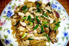Chicken and Mushrooms Noodles.