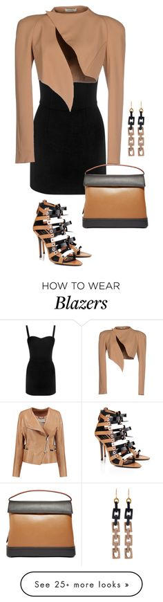 """""""Black and Tan"""" by lovetodrinktea on Polyvore featuring Chloé, Alexander McQueen, Aperlaï, Thierry Mugler, Marni and Lulu Frost"""