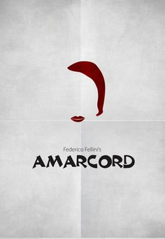 Amarcord (1973) ~ Minimal Movie Poster by Zoki Cardula ~ Fellini Series #amusementphile