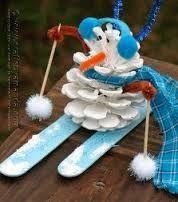 Resultado de imagen para pinterest manualidades hombre de nieve con trineo a crochet