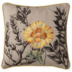 Yellow Flower Decorative Pillow
