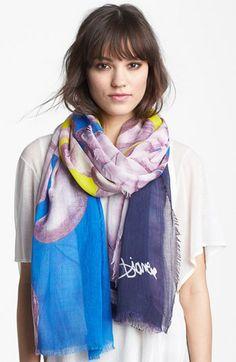 Diane von Furstenberg 'Hanover' Wool & Silk Scarf available at #Nordstrom