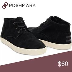 TOMS High Top Paseo Black Suede Sneakers Women's Size 9.5. Only worn once, in excellent condition! A really comfortable shoe :) TOMS Shoes Sneakers