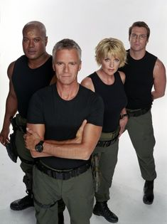 Christopher Judge, Richard Dean Anderson, Amanda Tapping, and Michael Shanks