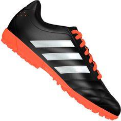 Chuteira Adidas Goletto 5 TF Society Masculina Preta   Laranja be636db996475