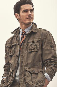 Lexington Spring 2015 - Darren Cargo Jacket http://www.lexingtoncompany.com/men/jackets-and-outerwear/darren-cargo-jacket-khaki-green