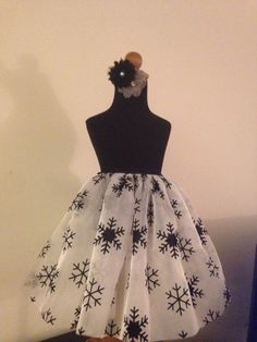 Snowflakes of the Night Tulle Skirt by dressupland on Etsy