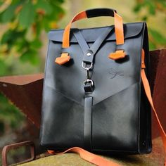 Leather bag. Man leather bag. Designed by Ludena.