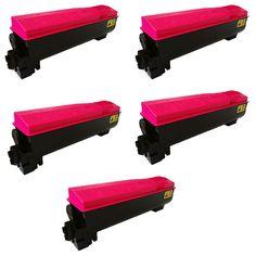 N 5PK Compatible TK552M Toner Cartridge For Kyocera FS C5200 C5200DN
