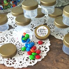 30 Little 1 oz Jars Container Makeup Beads Spices Jewelry Earrings DecoJars 4304 #DecoJars