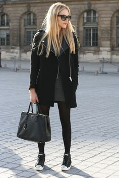 jacket Zara, bag Prada, shoes Miu Miu, dress H (similar here), sunnies Prada