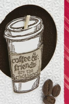 Video Tutorial using REAL Coffee Grounds embellished with REAL Coffee Beans!!!