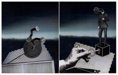 Pejzaż apokaliptyczny [collage - dyptyk 25 x 20 cm]  IX 2016