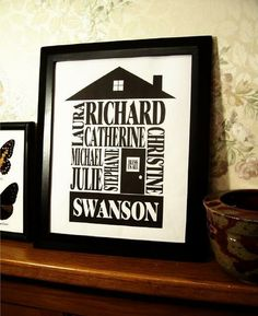 Personalized Family Name House Print by Gene Ploss | Hatch.co