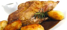 A Gressingham favourite, delicious roasted duck with a honey and rosemary jus served with duck fat roast poatoes. Serves 4-6.