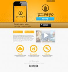 Priveyo Splash Page