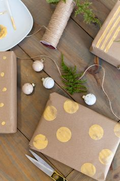 Easy DIY Gift Wrap Ideas for Christmas or any Holiday + The ONE Item You Dont Want to Forget