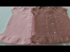 Baby Vest, Baby Cardigan, Baby Knitting, Crochet Baby, Strawberry Baby, Knit Vest Pattern, Smocks, Tunisian Crochet, Couture