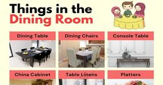 Dining Room Furniture Dining Room Furniture, Dining Chairs, Dining Table, Open Floor House Plans, Visual Dictionary, Formal Dinner, Family Game Night, Chair Covers, Fashion Room