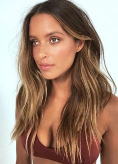 Brown Hair Balayage, Hair Color Balayage, Honey Balayage, Balayage Hair Brunette Long, Brunette Hair Cuts, Brunette Ombre, Brown Blonde Hair, Haircolor, Ombre Hair Color