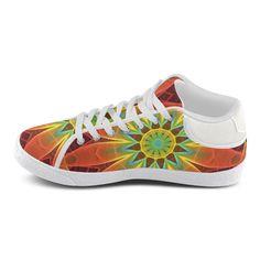 Radiance and Light, Orange Brown Awakening Women's Chukka Canvas Shoes (Model…