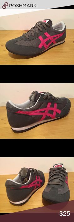Women's Asics Onitsuka Tiger Shoes Women's Asics Onitsuka Tiger Shoes - Size 7 - Gray & Hot Pink - pre owned but like New never worn - see pictures Asics Shoes Sneakers