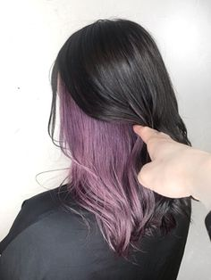 Inner color ☆ Purple pink ♪ CHELL :   Jeny Harajuku Hair Catalog   Hot Pepper Beauty … in 2020 Under Hair Dye, Under Hair Color, Hidden Hair Color, Half Dyed Hair, Hair Color Streaks, Hair Color Purple, Hair Dye Colors, Cool Hair Color, Peekaboo Hair Colors