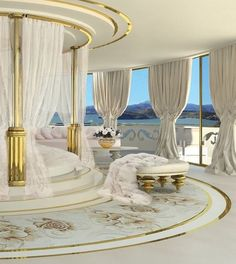 A master bedroom for a palace.