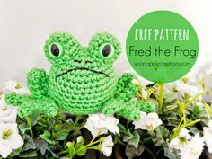 Try this frog amigurumi by SmartApple in a cotton yarn like Lion Brand Cotton-Ease.