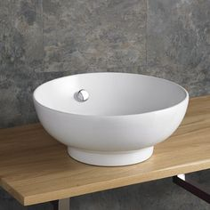 41cm Puglia Round Shaped White Ceramic Hand Basin with built in Overflow - www.clickbasin.co.uk  just £79.00 - price includes VAT and delivery.  WOW!