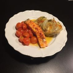 Pavé de saumon fenouil et tomates au piment d'espelette