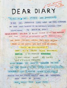 Simon Evans - Dear Diary, 2008 Simon Evans, Margaret Kilgallen, Rhyme And Reason, Expressions, Dear Diary, My Passion, Make Me Happy, Art World, Beautiful Words