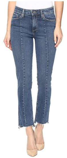 Paige Jacqueline Straight w/ Seaming Details and Uneven Hem in Felice (Felice) Women's Jeans - Paige, Jacqueline Straight w/ Seaming Details and Uneven Hem in Felice, 3375A65-3621-W3621, Apparel Bottom Jeans, Jeans, Bottom, Apparel, Clothes Clothing, Gift, - Street Fashion And Style Ideas