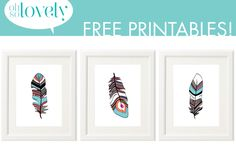Oh So Lovely: Free Printable 8x10 Abstract Feather Art