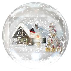 """Christmas Orb"" by bren-johnson ❤ liked on Polyvore featuring interior, interiors, interior design, home, home decor and interior decorating"