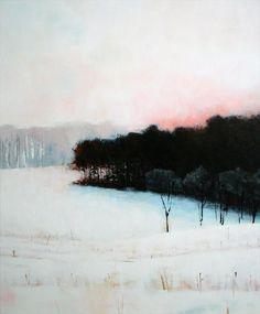 apoetreflects: Painting: Corey Parker, County Line Winter, 2010 Medium: Acrylics